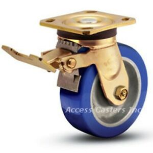B8as3p 7 8 Bassick Swivel Plate Caster With Total Lock Brake 1250 Lbs Capacity