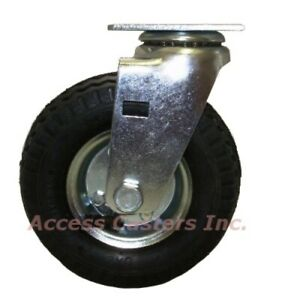 6cpnsps 6 Inch Pneumatic Swivel Caster Wheel With Small Top Plate