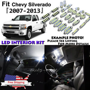 18x White Led Interior Lights Package Kit For 07 13 Chevy Silverado Gmc Sierra