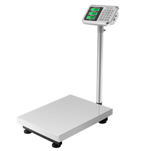 Us 300kg 50g 660lb Digital Shipping Postal Scale Floor Platform Stainless Weight