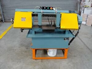 Enco 916 Horizontal Band Saw Coolant 9 X 16 Capacity 9 Rd 115v Single Ph