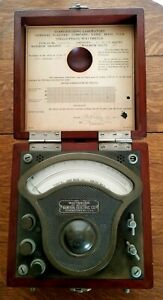 Antique 1909 Pat Ge General Electric Wattmeter Type P3 228952 tested Feb 1911