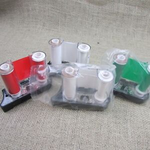 Lot Of 4 Brady Handimark Vinyl Ribbon Cartridges White Green Red