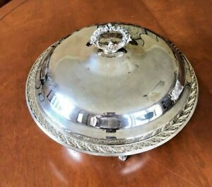 Wm Rogers Silverplate Casserole Dish With Glass Insert Spring Flower 2062