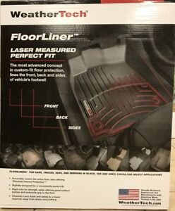 Weathertech Car Floorliner For Silverado Sierra Tahoe 1st Row Oth Black