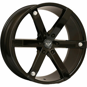 22x9 5 Matte Black Gima Brut Wheels 6x135 30 Fits Ford Expedition 6 Lug Only