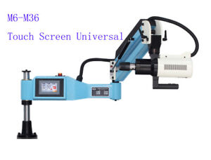 220v M6 m36 Universal Electric Tapping Machine Flexible Arm 4 3 Lcd Touch Scree
