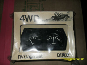 Vintage Dixco 4wd Rv Gage Set Model 222 Oil Pressure Gage Ammeter