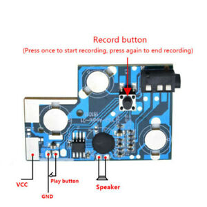 120s Recordable Voice Sound Chip Button Photosensitive Control For Greeting Card