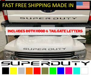 Super Duty Letter Decal Inserts Hood Tailgate F250 F350 2017 2019 Stickers