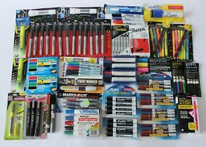 Lot Of 135 All New Sharpies Expo Vis A Vis Sanford Marks A Lot Pen Pencil Marker