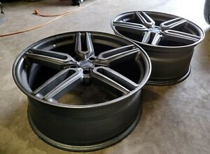 21 Vossen Hf1 Hybrid Forged Tinted Matte Gunmetal Rims Wheels Audi A6 S6 A7 S7