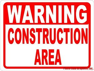 Warning Construction Area Sign Size Options Dangerous Construction Zone Site
