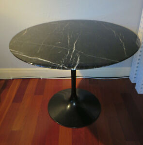 Eero Saarinen For Knoll 35 Black Marble Tulip Dining Table Signed