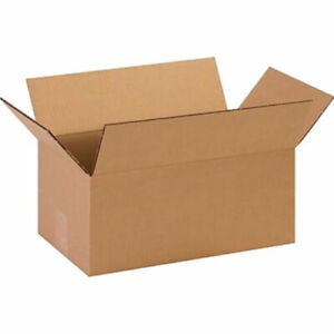 50 14 X 10 X 6 Corrugated Shipping Boxes Storage Cartons Moving Packing Box