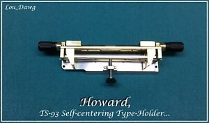 Howard Personalizer ts 93 Self centering Type holder Hot Foil Stamping Machine