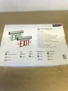 Royal Pacific Emergency Exit Sign Led Mirror Double Sided Ac dc