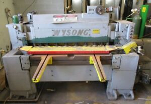 Wysong Shear Model 748 48 Cutting Length Used Local Pickup Only