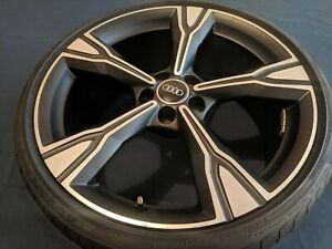 1x Oem 20 Genuine Audi Ttrs Wheel With Tire Tt Tts Wheels Black Optic Ronal