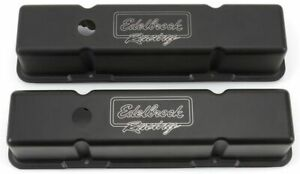 Edelbrock Sbc Victor Series V C S Tall Black Finish