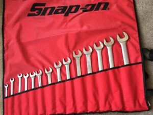 Huge Snap on 14 Pc Sae 12 point Combination Wrench Set 1 2 Price