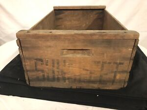 Antique Vintage Wooden Prunes Fruit Box Crate Iris Brand Wood Shipping Box