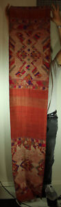 Southeast Asian Textile Pha Biang Shawl Woven By T Ai Nuea Silk On Cotton