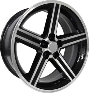 New 22x8 5 Inch Iroc Style Glossy Black Machine Wheels 5x114 3 5x115 4 Pcs