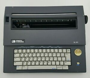 Smith Corona Sl 80 Electronic Typewriter With Cover Extra Ribbons