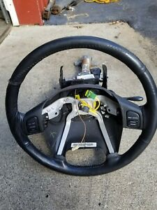 2002 Jeep Grand Cherokee Limited 4 7l V8 Steering Column And Wheel Black Oem