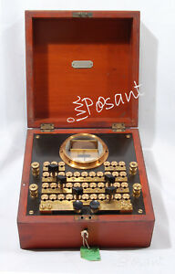 Antique 1900 S Electrical Resistance Decade Box W Meter Rare