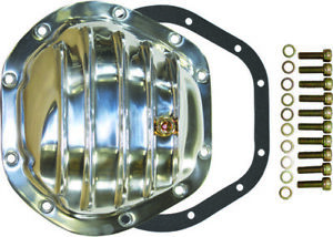 Jeep Ford Chevy Dana 44 10 Bolt Finned Polished Aluminium Differential Cover