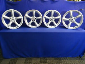 05 06 07 08 09 Silver Heritage Saleen Mustang Staggered Wheels 19 5x114 3 Set