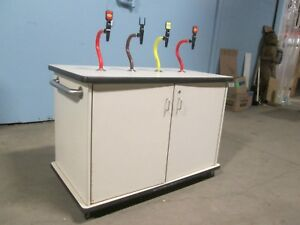 H d Commercial Mobile Self serve Co2 Propelled 4 Flavors Condiment Station