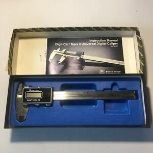 Vintage Brown Sharpe Digit cal Mark Ii Edp 50700 Universal Digital Caliper