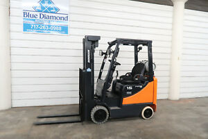2013 Doosan Gc15s Forklift 3 000 Cushion Lp Gas 187 Three Stage Sideshift