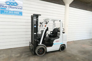 2014 Nissan Unicarriers Cf70 7 000 Tire Forklift Lp Gas 3 Stage 4 Way Hyd