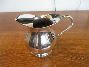 Antique Silver Plated Pitcher Water Or Cocktail With Ice Lip Vintage Old