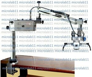Portable Ent Microscope table Mounted Microscope with Straight Binoculars new
