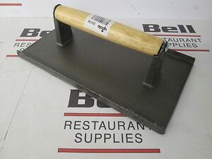 new Winco Swa 9 Cast Iron 9 X 5 Steak Weight Bacon Press