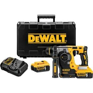 Dewalt Dch273p2 20v Max Brushless Sds Rotary Hammer With 5 Ah Batteries