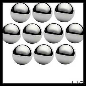 West Coast Paracord 1 1 2 Chrome Steel Bearing Balls For Projects 10 Pack
