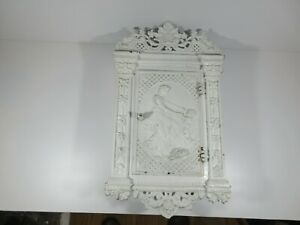 C43 Vintage Antique Victorian Cast Metal Wall Cabinet Classical Mother