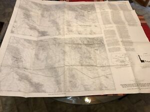 Vintage Survey Map New Mexico Arizona Reference 04 01