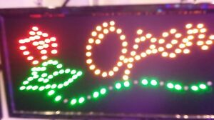 Open With Rose Flower Neon Led Sign shop Sign store Sign window Sign 20 x 10
