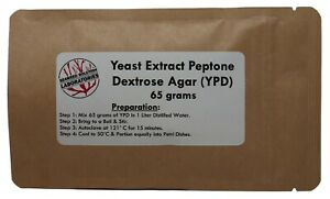 Yeast Extract Peptone Dextrose Agar yepd ypd 65 Grams Yields 1 Liter