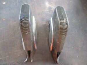 73 74 Charger Satellite Chrome Rear Bumper Guards W Rubber Pads Oem Pair