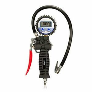 Air Tire Inflator With High Accurate Lcd Digital Pressure Gauge Dual Clip Chuck