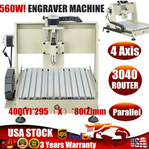 Engraver 4axis Cnc Router Kit 3040 Drilling Milling Engraving Machine 560w Motor