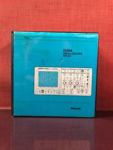 Tektronix 2430a Oscilloscope Serial Number B030000 Above Service Manual 2273